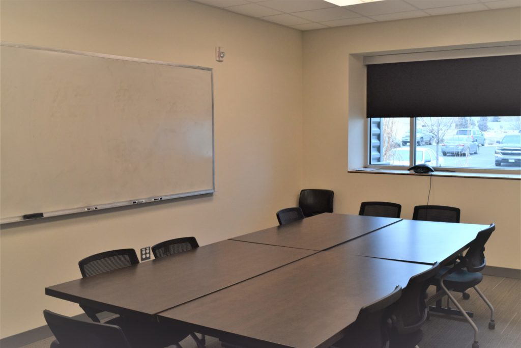 Big Screen TV, White Board, Teleconferencing System